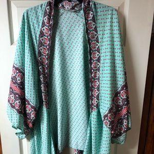 Other - Mint green kimono